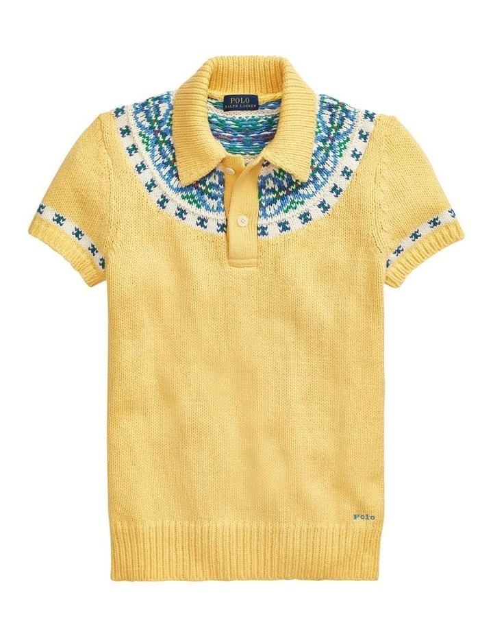 Jacquard-Knit Sweater Polo image 4