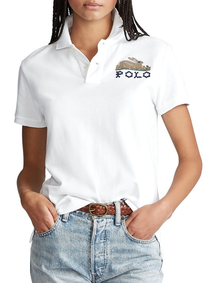 Classic Fit Embroidered Polo image 1