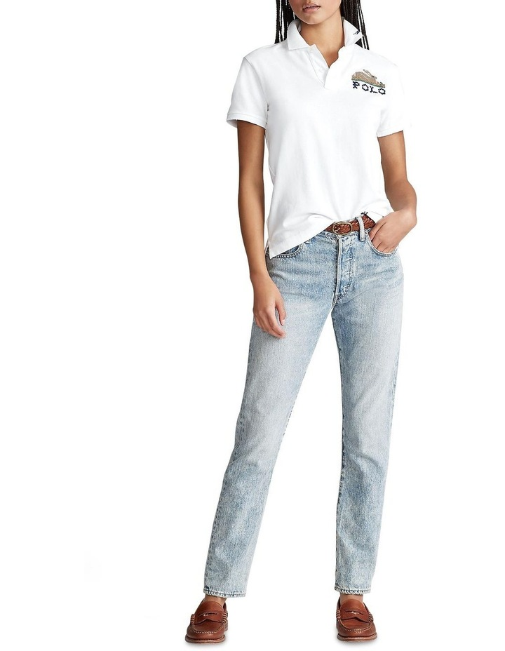 Classic Fit Embroidered Polo image 3