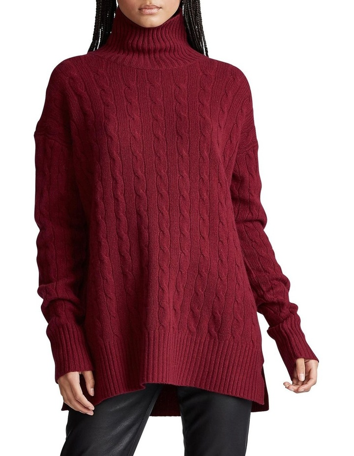 Cable-Knit Turtleneck Sweater image 1
