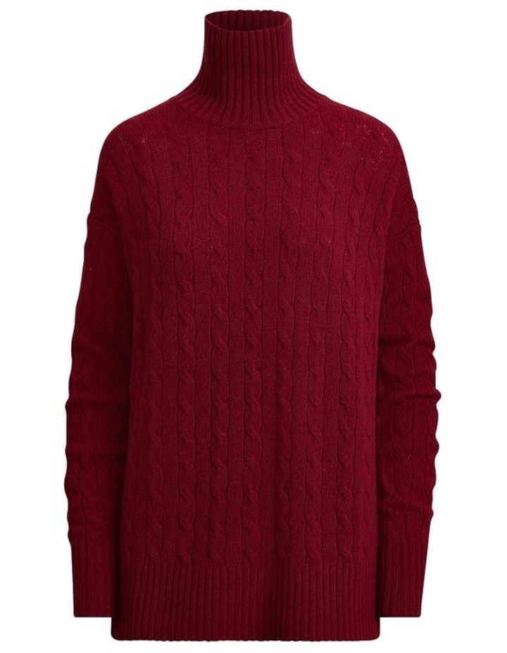 Cable-Knit Turtleneck Sweater image 4