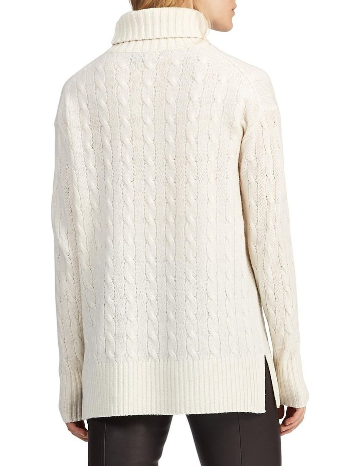 Cable-Knit Turtleneck Sweater image 2
