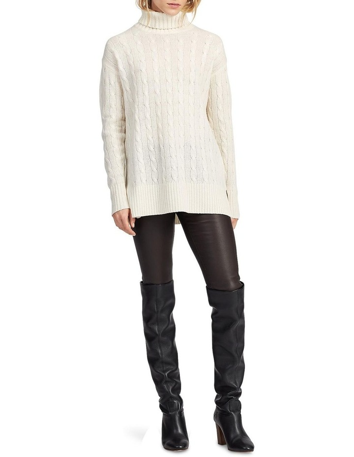 Cable-Knit Turtleneck Sweater image 3