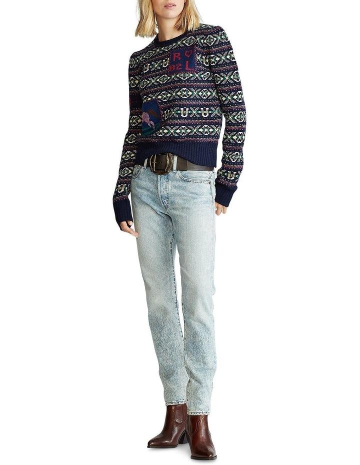 Fair Isle Puff-Sleeve Sweater image 3
