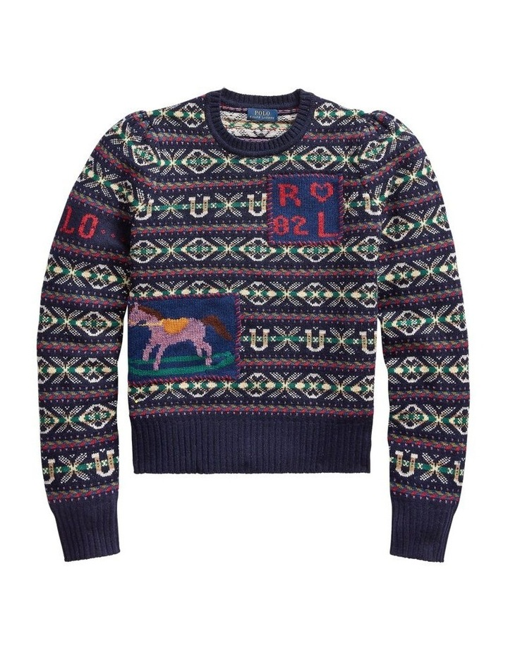 Fair Isle Puff-Sleeve Sweater image 4
