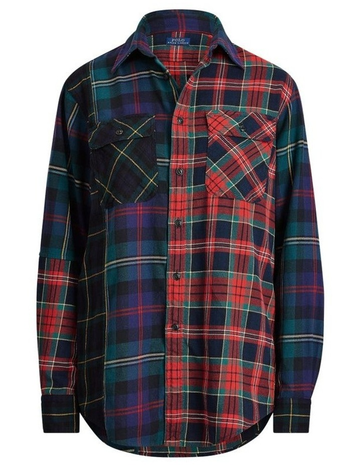 Contrast Plaid Cotton Shirt image 4