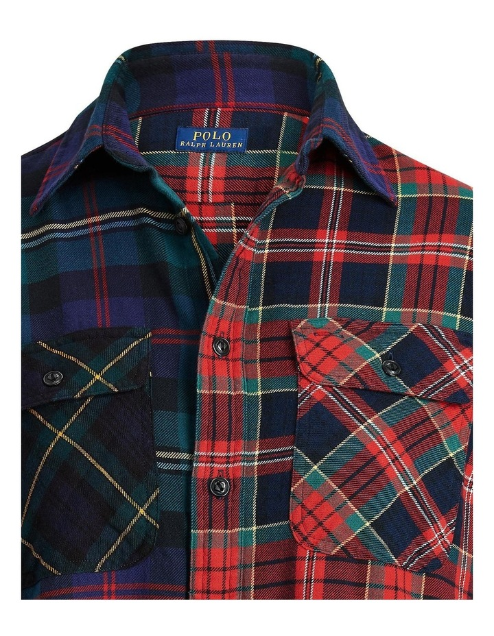 Contrast Plaid Cotton Shirt image 5