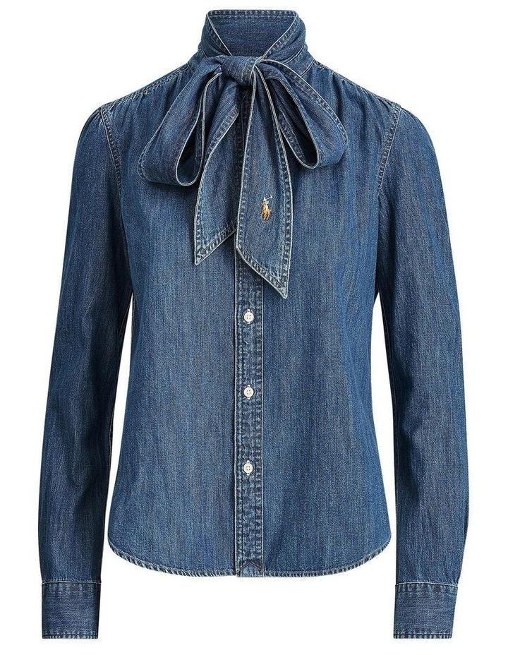Necktie Denim Shirt image 4