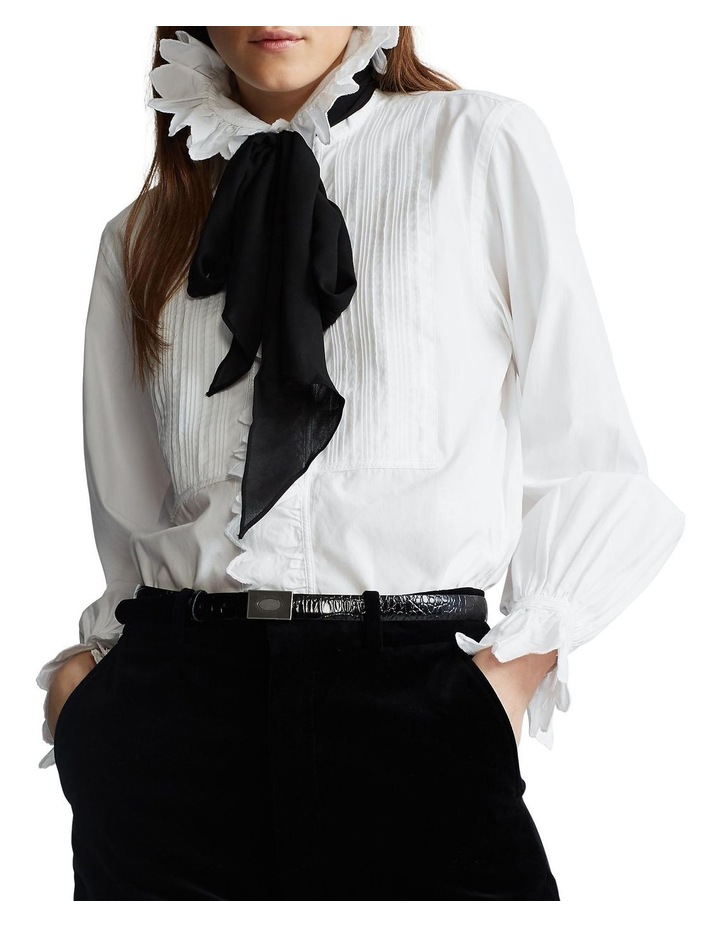 Ruffle-Trim Cotton Shirt image 1