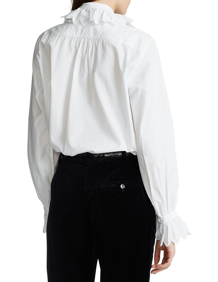 Ruffle-Trim Cotton Shirt image 2