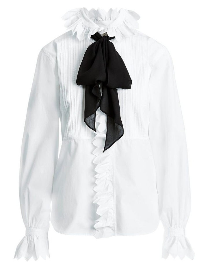 Ruffle-Trim Cotton Shirt image 4