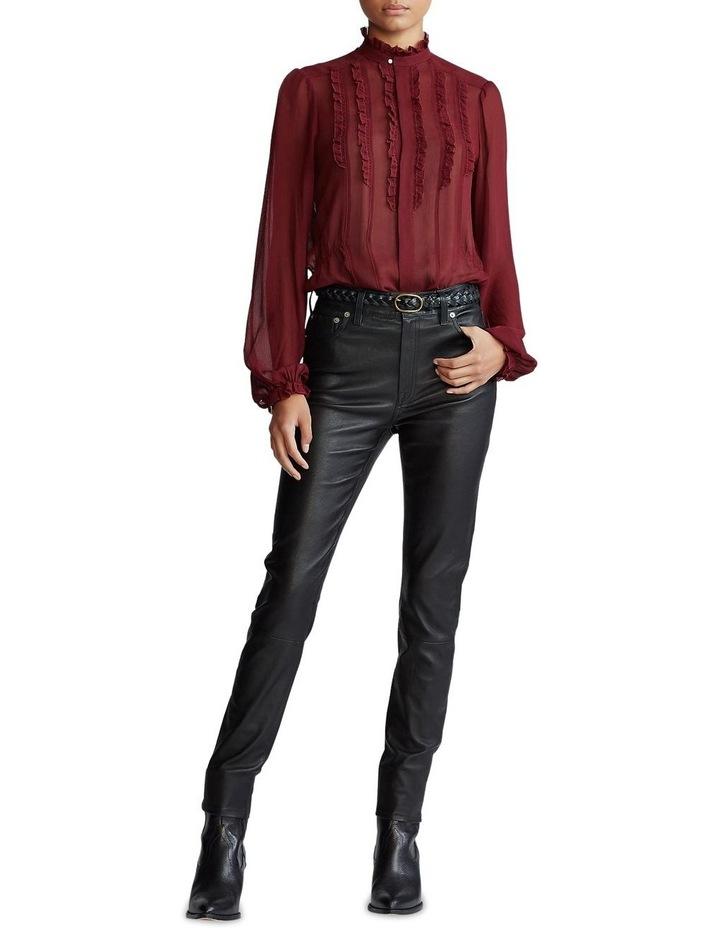 Ruffle-Trim Silk Shirt image 3