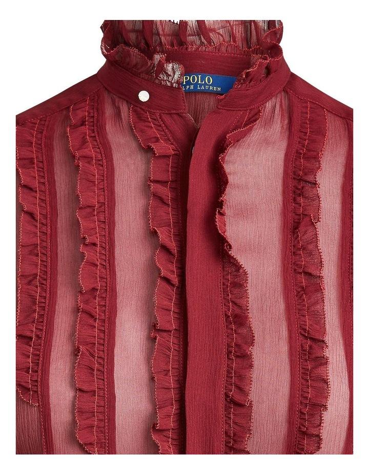 Ruffle-Trim Silk Shirt image 5