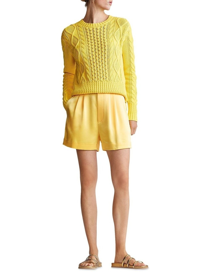 Cable-Knit Cotton Sweater image 3