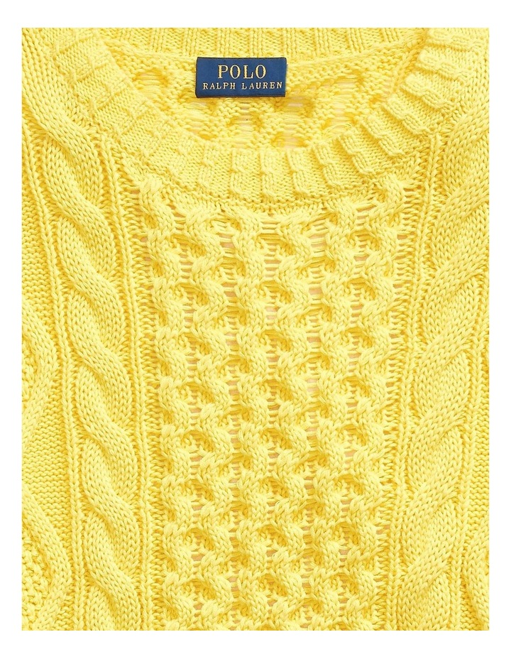 Cable-Knit Cotton Sweater image 5
