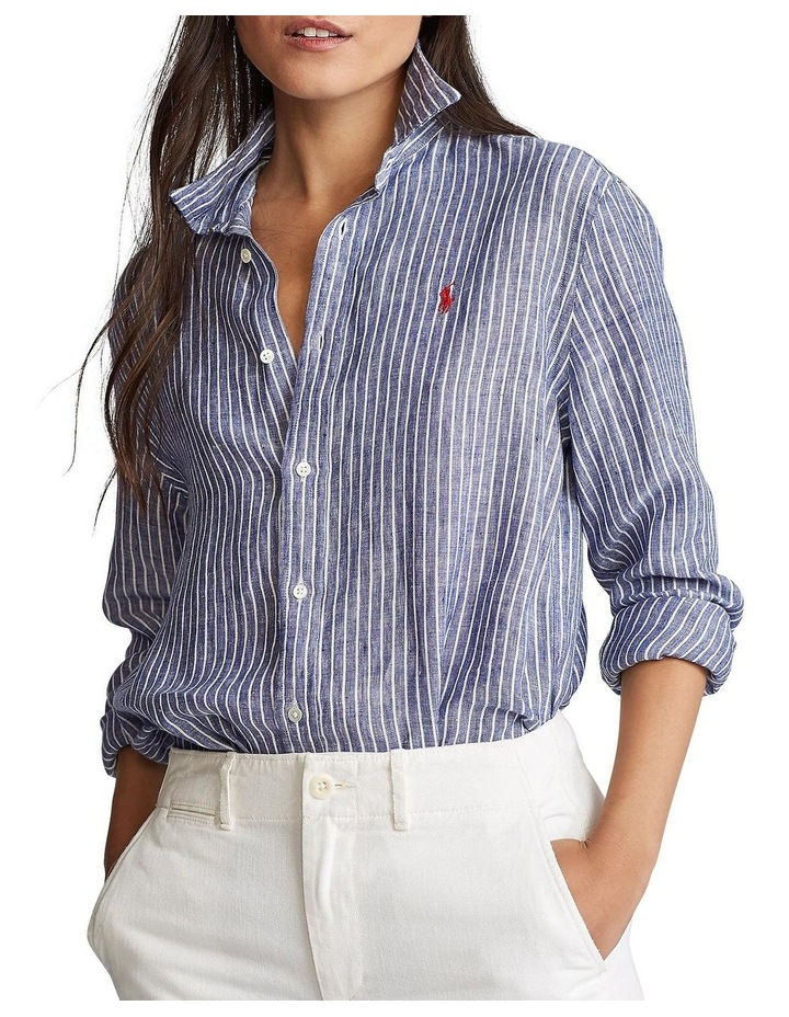 Relaxed Fit Linen Shirt image 1