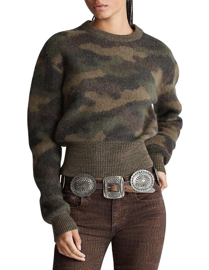 Camo-Print Wool Sweater image 1