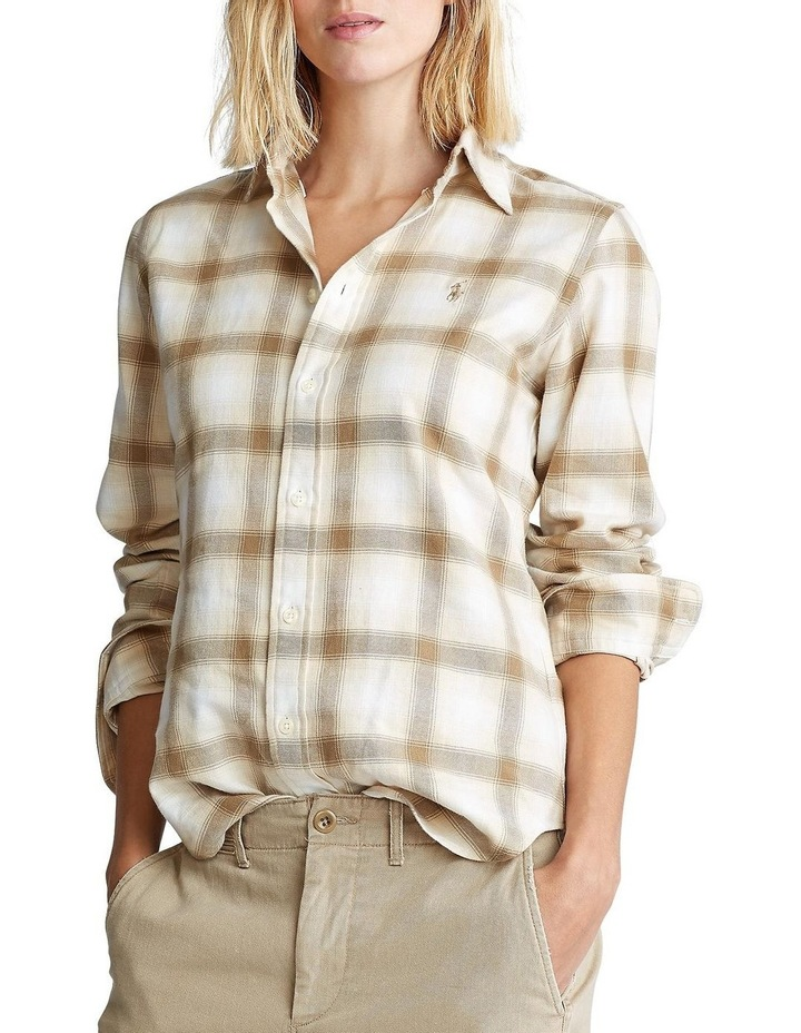 Flannel Button-Down Shirt image 1
