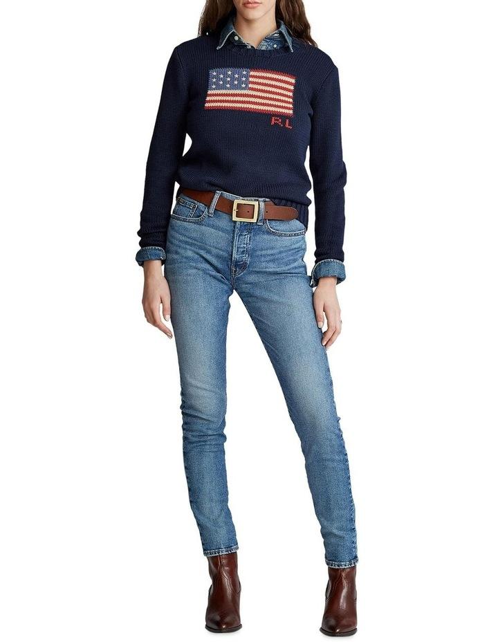 Flag Cotton Crewneck Sweater image 3