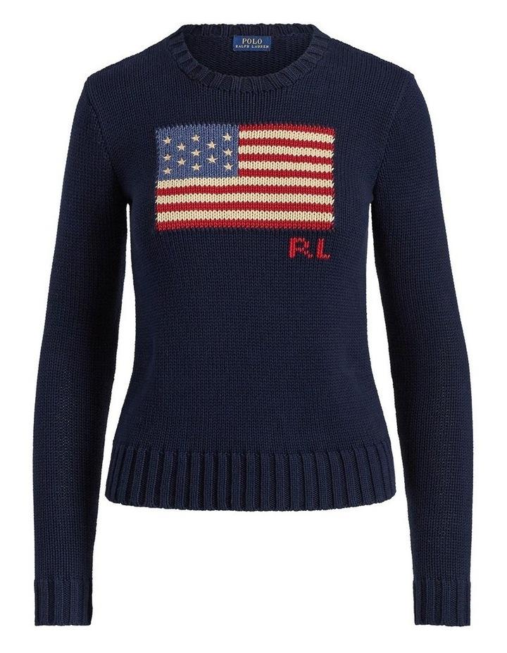 Flag Cotton Crewneck Sweater image 4