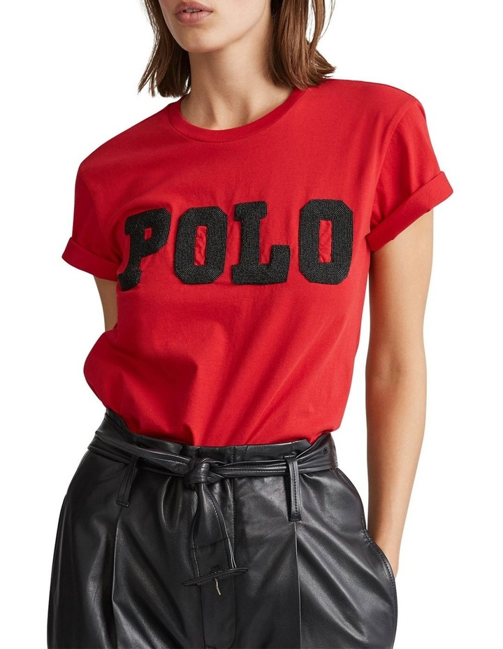 Big Fit Beaded Polo Tee image 1