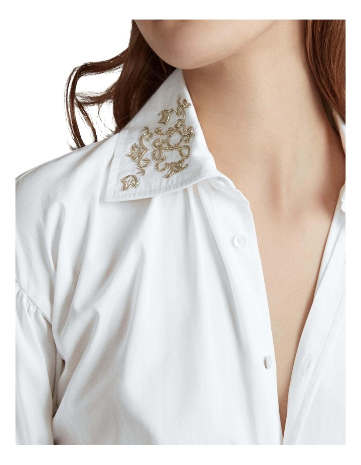 Beaded Cotton Broadcloth Shirt image 4