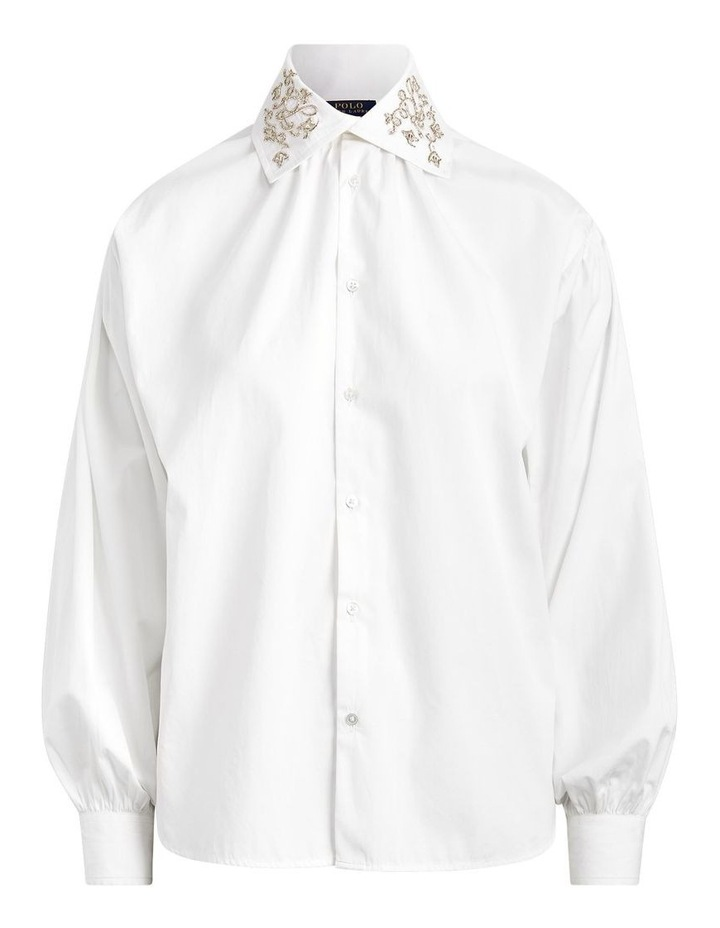 Beaded Cotton Broadcloth Shirt image 5