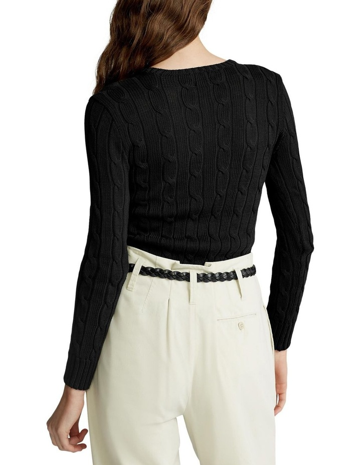 Slim Fit Cable-Knit Sweater image 2