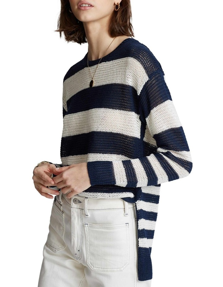 Striped Linen Sweater image 1