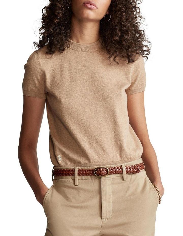 Cotton Short-Sleeve Sweater image 1