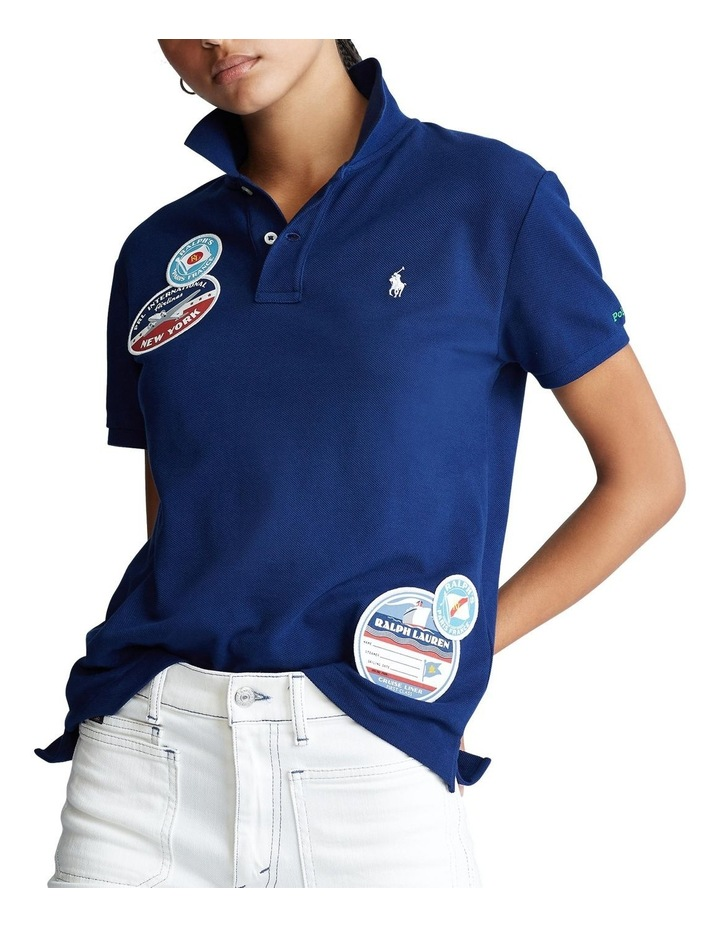 Classic Fit Patch Polo Shirt image 1
