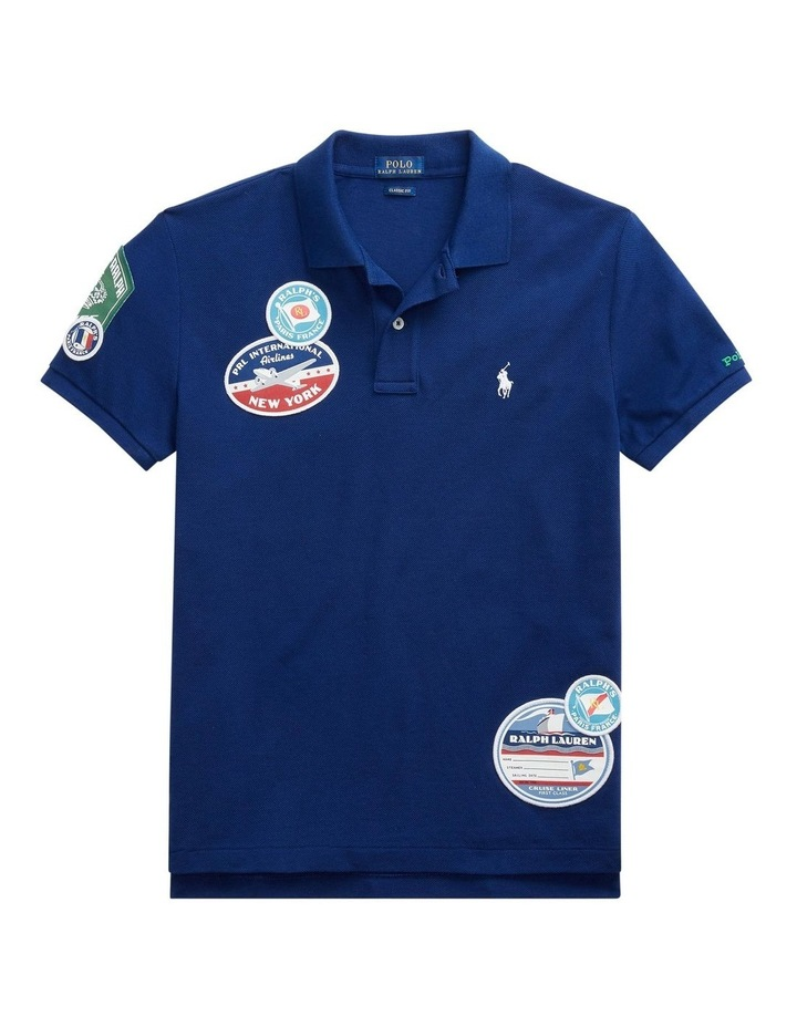 Classic Fit Patch Polo Shirt image 3