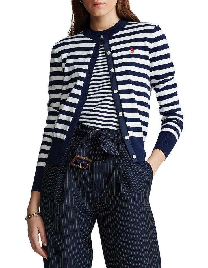 Striped Cotton Cardigan image 1