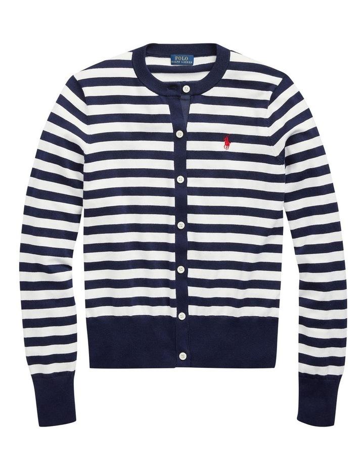 Striped Cotton Cardigan image 4