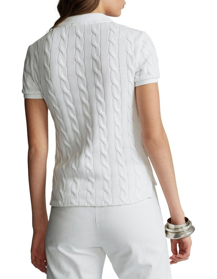 Cable-Knit Polo Shirt image 2