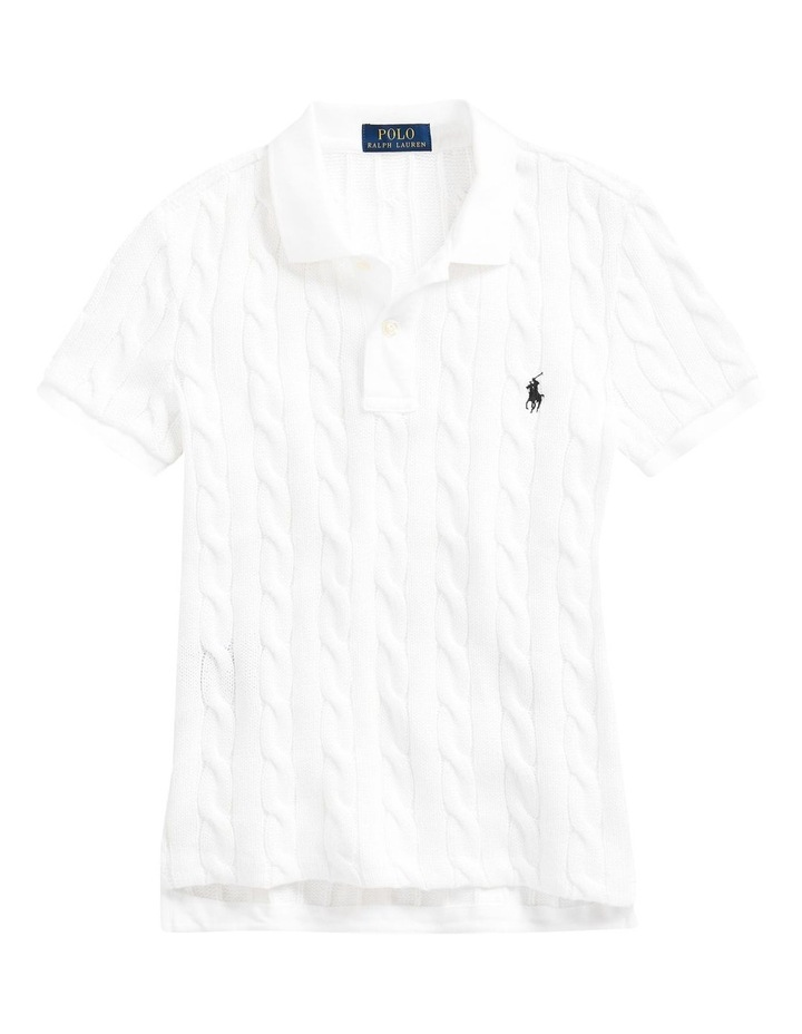 Cable-Knit Polo Shirt image 4