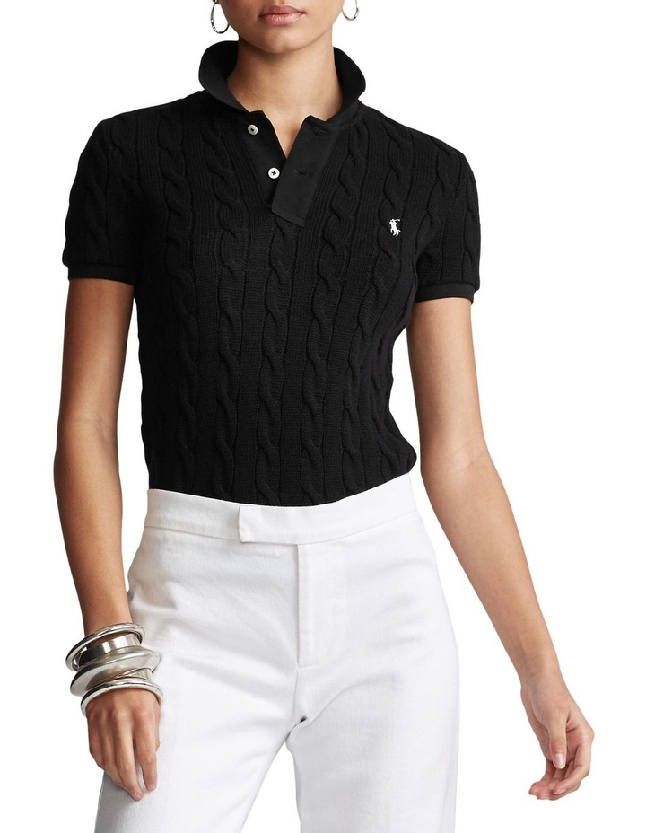 Cable-Knit Polo Shirt image 1
