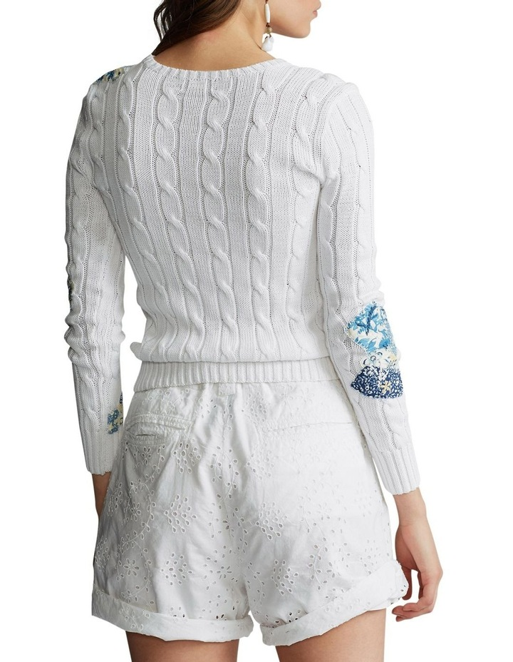 Patchwork Cable-Knit Sweater image 2