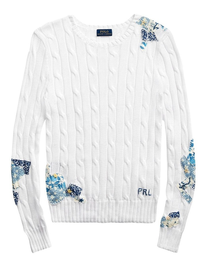 Patchwork Cable-Knit Sweater image 4