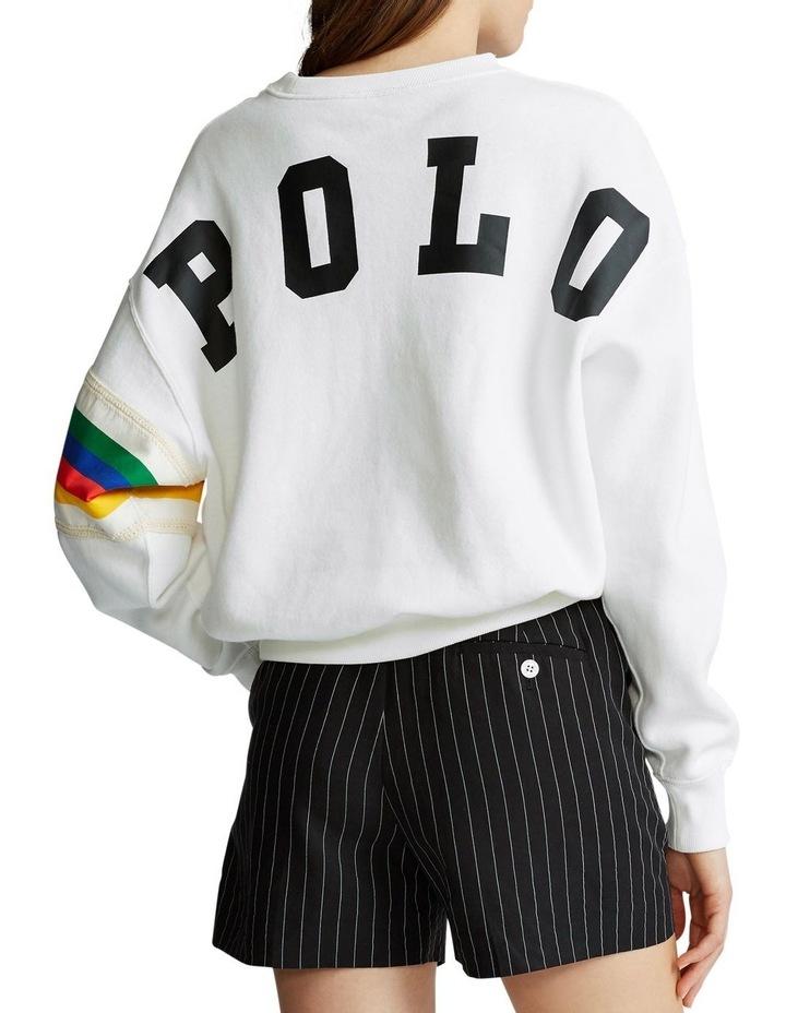 Rainbow-Trim Fleece Sweatshirt image 2