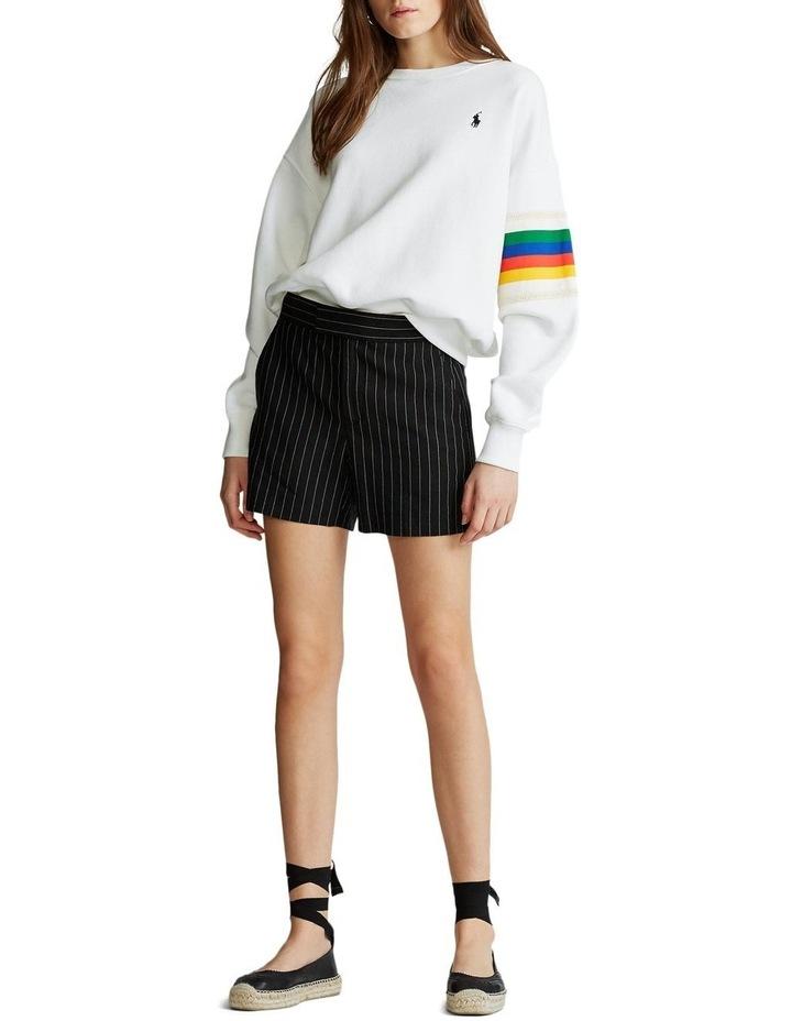 Rainbow-Trim Fleece Sweatshirt image 3
