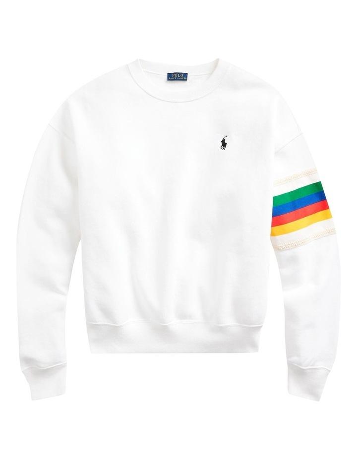 Rainbow-Trim Fleece Sweatshirt image 4