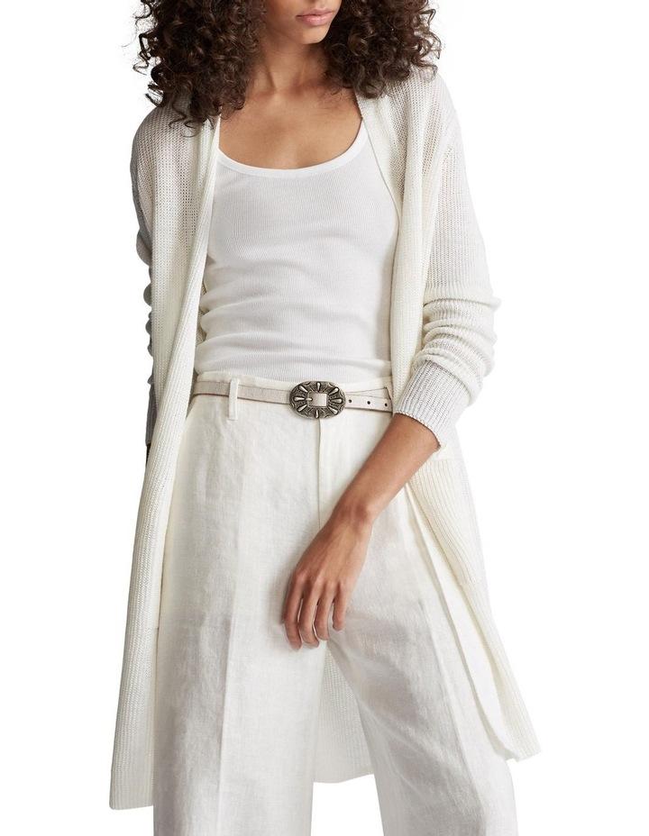 Ribbed Linen Cardigan image 1