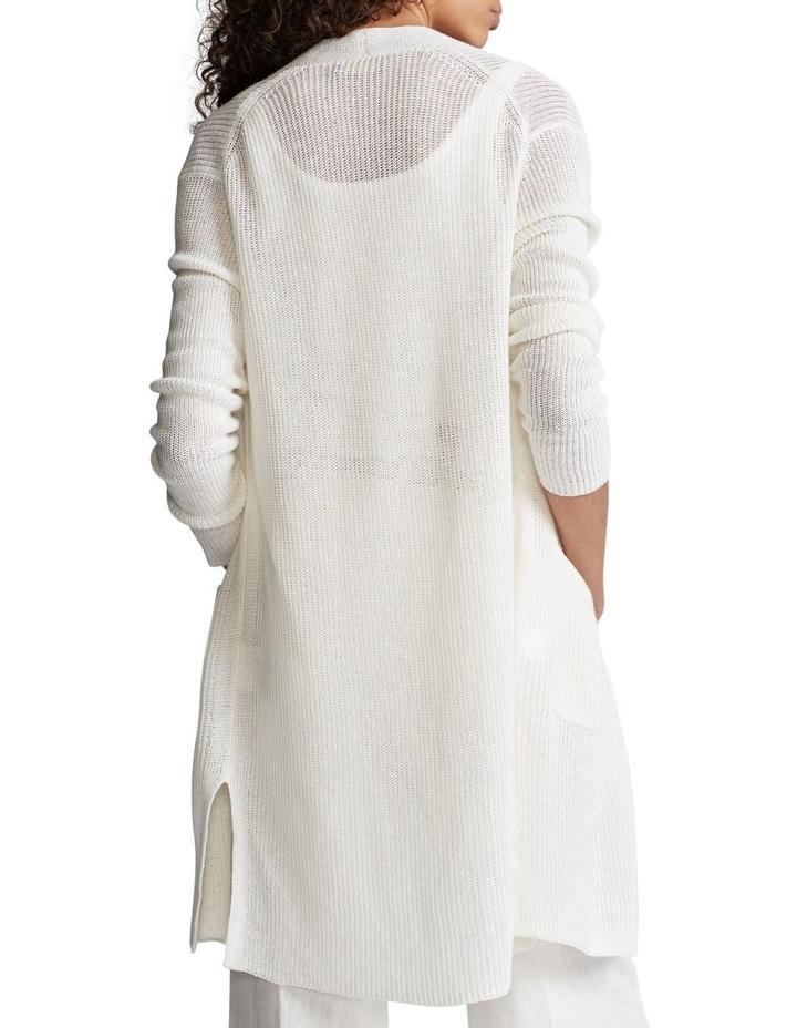 Ribbed Linen Cardigan image 2