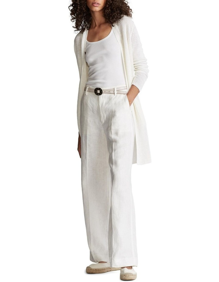 Ribbed Linen Cardigan image 3