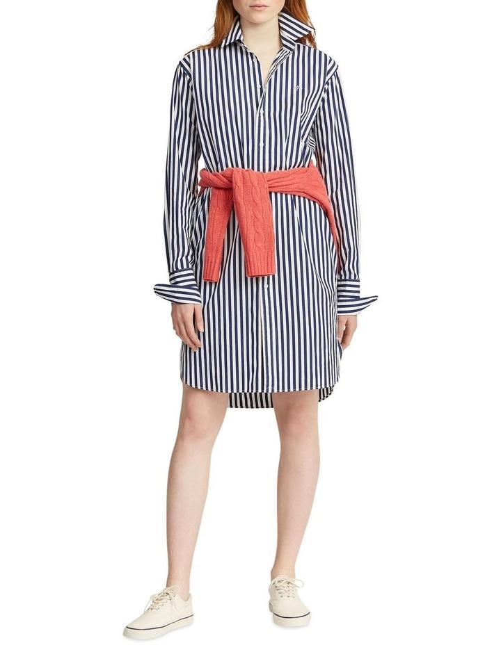 Striped Cotton Shirtdress image 1