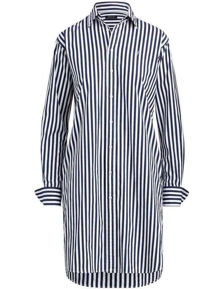 Striped Cotton Shirtdress image 3