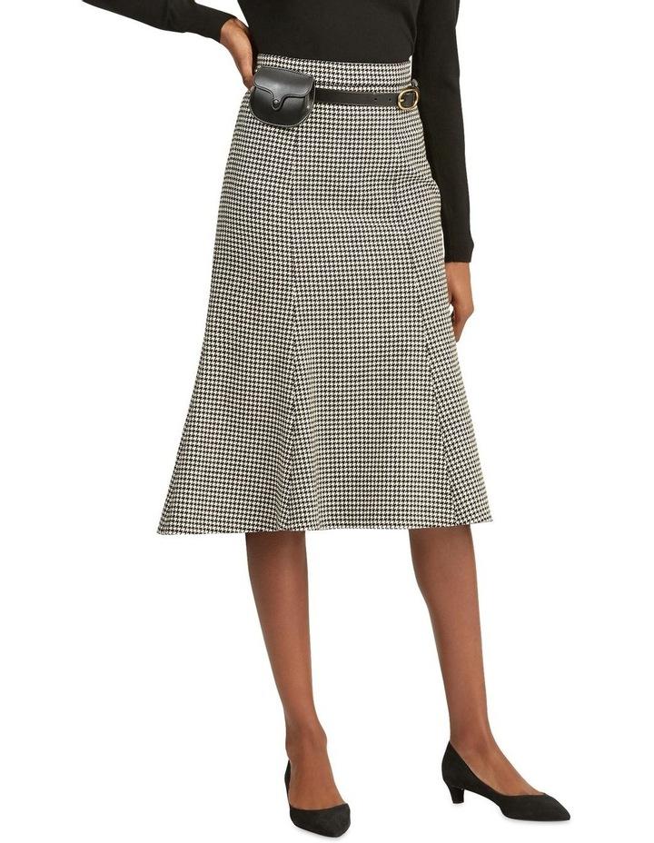 Houndstooth Wool-Blend Skirt image 1