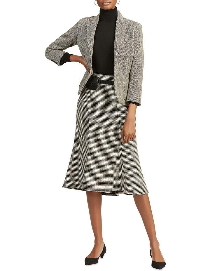 Houndstooth Wool-Blend Skirt image 3