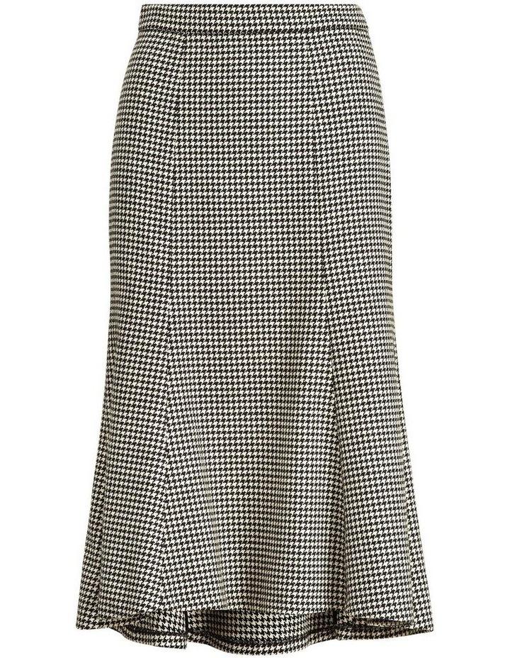 Houndstooth Wool-Blend Skirt image 4